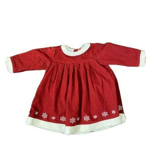 Hanna Andersson Christmas Dress size 80  18/24M
